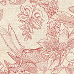 Chinoiserie - Chinoiserie in Natural/Red